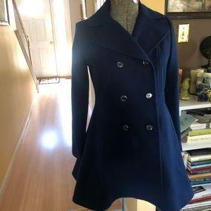 New Anne Klein Navy Coat Petite M